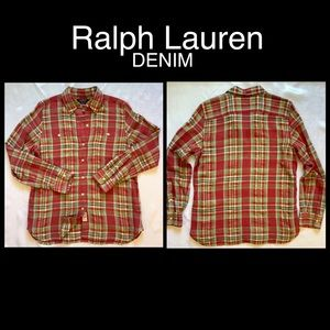 Ralph Lauren DENIM Button Up Shirt, Small